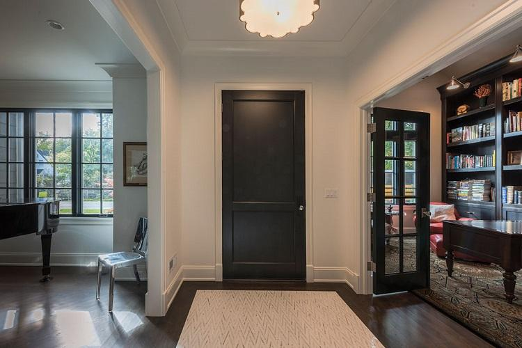 Indoor Solid Wood Entry Doors and Grill Design